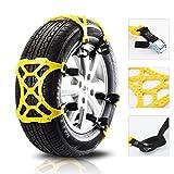 Universal Car pneumatici anti-scivolo catena di emergenza tendine poliUretano neve d'urgenza per la maggior parte SUV camion 6Pcs ruota regolabile