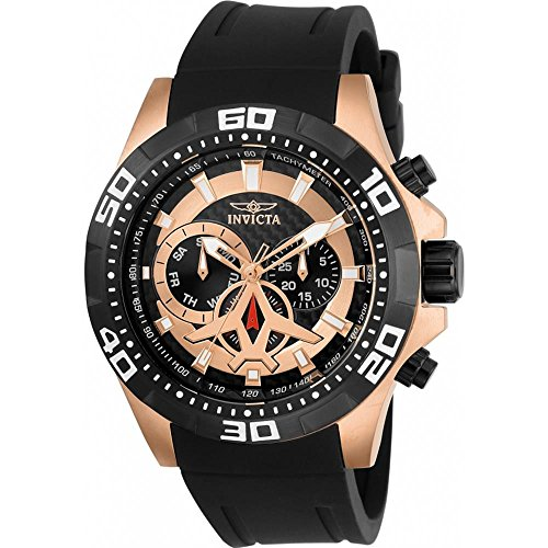Invicta Aviator Herren-Armbanduhr 48mm Armband Kunststoff Schwarz Quarz 21740
