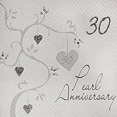 Idea Regalo - WHITE COTTON CARDS-Album Fotografico, Motivo Anniversario di Matrimonio (Anniversario di Perla, Realizzati a Mano, Motivo: 30° Anniversario di Matrimonio