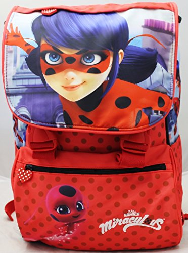 CARTOON WORLD ZAINO Scuola Estensibile - MIRACULOUS LADYBUG