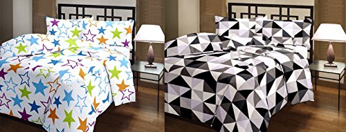 SS Sales Star And Zigzag Check Prints Reversible Single Bed AC Blanket...