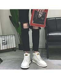 HL-PYL, botas altas botas botas Chunky Calzado casual.,39,blanco