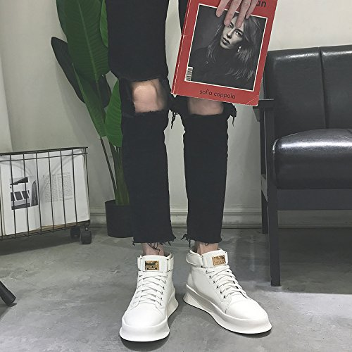 HL-PYL-alti stivali stivali Chunky stivali scarpe casual. white
