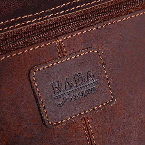 Borsa A Mano Rada Natura Messenger Borsa In Vera Pelle Geelong In Diversi Colori Sandalo / Marrone Chiaro