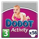 Dodot Activity - Pañales para bebé, talla 3, 56 pañales