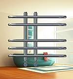 Design Badheizkörper DORA Chrom 400 x 700 mm. Handtuchtrockner Handtuchwärmer
