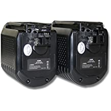vhbw 2x batería Ni-MH 3000mAh (24V) para herramienta GBH 24VFR, GBH 24VR, BTI BHE 24VRE y Bosch 2 607 335 082, 2 607 335 097, 2 607 335 216.