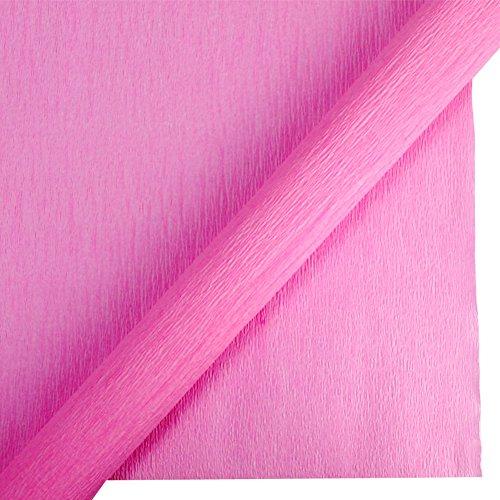 Krepppapier, Blatt, dekorative Seidenpapier für Hochzeit Geburtstag Abend Hen Party Baby Dusche Blumen Zeitgemäß Fan Tischdekorationen, Home DIY Papier hot pink