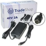 Trade de Shop Cargador Cable de carga 42V 2A para baterías de 36V con 10,45mm x 8,50mm 1pin de conector conector para E-Bike Pedelec bicicleta eléctrica bicicleta eléctrica Baterías para cargar