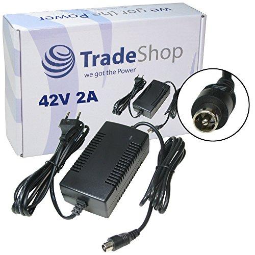 Preisvergleich Produktbild Trade-Shop Premium Netzteil Ladegerät Ladekabel für 36V Akkus (42V 2A) mit 10,45mm x 8,50mm 1Pin-Anschluss Stecker für E-Bike Elektrofahrrad Pedelec Elektro Fahrrad Akkus zum Aufladen