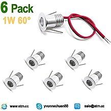 ETRN® 6 piezas 1W Mini LED techo Downlight 60 ° Casa Plataforma Focos Enviar mensaje para elegir la temperatura de color (6)