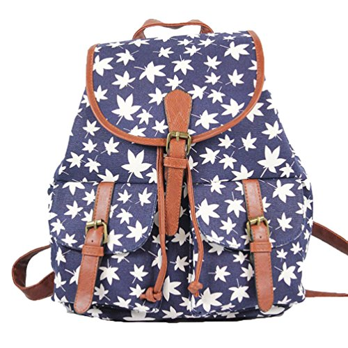 YiLianDa Mädchen Damen Canvas Rucksack Rucksack Schultasche Lässiger Tagesrucksack als Bild(11)