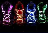 Jellbaby LED Tricks Schnürsenkel Blinken Schnürsenkel für Disco Party Night Running 1Paar Blau
