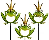 Objektkult Metall-Gartenstecker Frosch 3er-Set