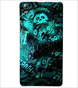 PrintDhaba Graffiti D-3907 Back Case Cover for LENOVO A7000 PLUS (Multi-Coloured)