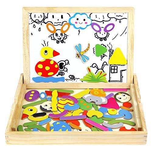 Lavagna magnetica per bambini puzzle legno giochi magnetici gioco educativi animale 72 pezziper bambini 3 4 5 6