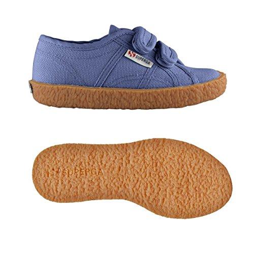 Superga 2750-Naked Covj, Sneaker a Collo Basso Unisex – Bambini Blue Velvet