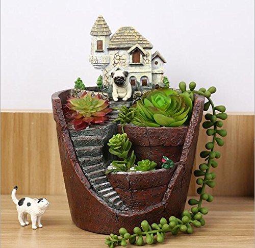 somarke-garden-pastoral-flowerpot-combination-resin-succulent-plant-pot-container-villa