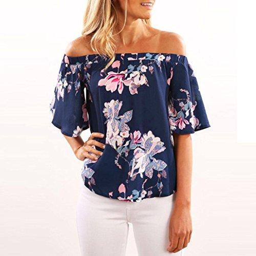 OverDose Damen Spitze weg vom Schulter-beiläufige kurze Hülsen-T-Shirt  Spitzenbluse A-Z ...