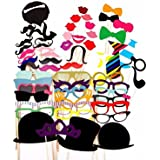 New Style 58 Party Props Photo Booth Moustache Birthday Engagement Wedding Funny