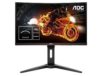 "AOC C24G1 24""Class LED Gaming Monitor 1920x1080, FreeSync, 144hz, 1ms, VA 1500R Curved Panel, HA, VGA, (2) HDMI, DP"