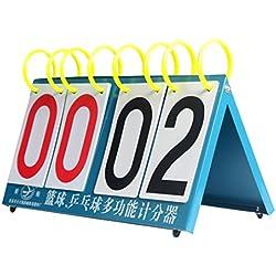 Andux Marcador Multi-funcional para Mesa de ping pong Badminton Baloncesto JFQ-04