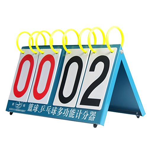 Andux Quadro di valutazione multifunzionale per Table Tennis Badminton Pallacanestro JFQ-04 - Pallacanestro Carta