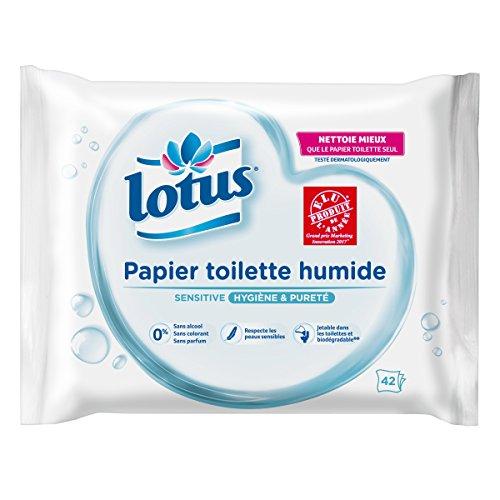 Lotus Sensitive - Papier Toilette humide - Lot de 6 paquets de 42 feuilles