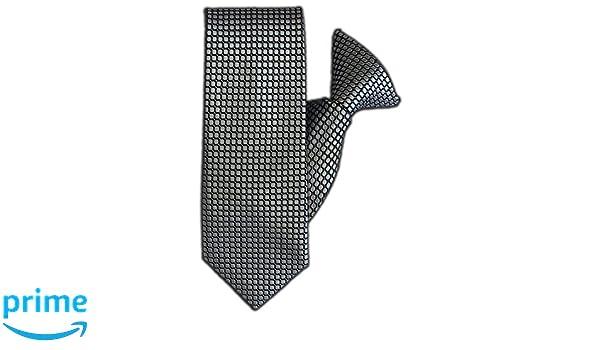 JH-1128 Silver Spot Clip On Tie