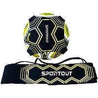 Sportout Entraîneur au tir, aide à l'entraînement au foot, parfait pour améliorer ses techniques de foot, pour ballons de tailles 3, 4 et 5, pour enfants et adultes