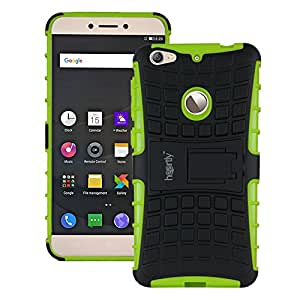 Heartly Flip Kick Stand Spider Hard Dual Rugged Armor Hybrid Bumper Back Case Cover For Letv Le 1S / LeEco Le 1s Eco / LeEco Le 1S - Great Green