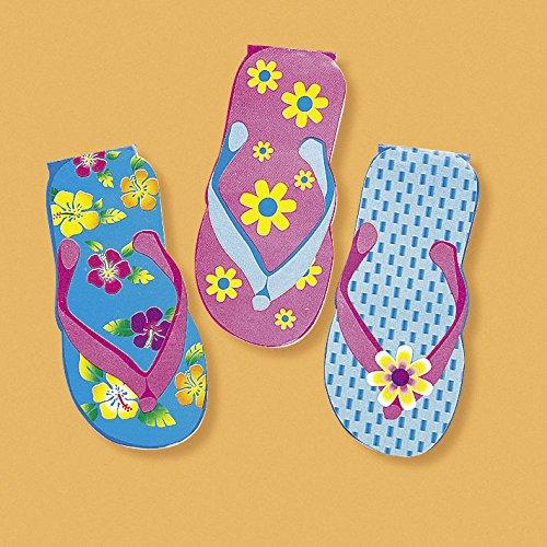 Sandalen Notizzettel Notizblock mit bunten Blumen 12 Stück Mitgebsel Palandi®