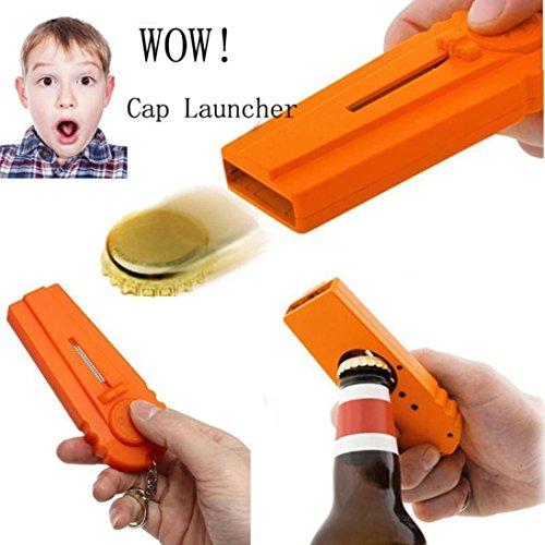 Preisvergleich Produktbild Gaddrt Flying Zappa Bierflasche Flaschenöffner Cap Launcher Top Shooter Schlüsselanhänger Geschenk