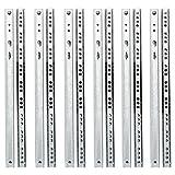 Yaheetech 6 Paar Schubladenschienen Teilauszug Rollenauszug 310/17 mm,Teleskopschiene Kugelführung Kugelpräzisionsteilauszug