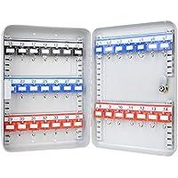 HMF Caja para llaves (320x 230x 75mm, 35ganchos), color gris claro Ganchos ajustables