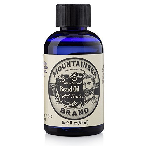 Mountaineer Brand Natural Beard Oil-WV Timber 2 Oz.-TWICE THE SIZE OF MOST by Mountaineer Brand -