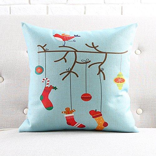 on Weihnachten Baumwolle Kissen Sofa dekorative Elemente auf Taille, 45 X 45 Cm - G (Dekorative Elemente)