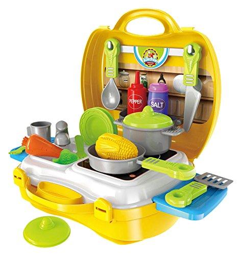 Preisvergleich Produktbild Bieco 19008311 - Reise Küchen Koffer, 26 teilig