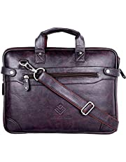 Lioncrown Genuine Leather 14 inches Slim Laptop Messenger Ba