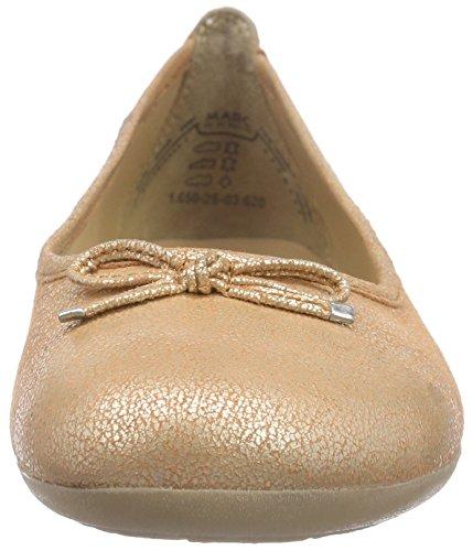 Marc Shoes Janine, Ballerines fermées femme Orange - Orange (peach 620)
