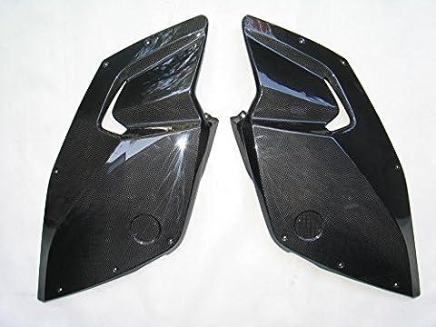 side panels, carbon. Moto BMW K1300S. Real Carbon Fiber