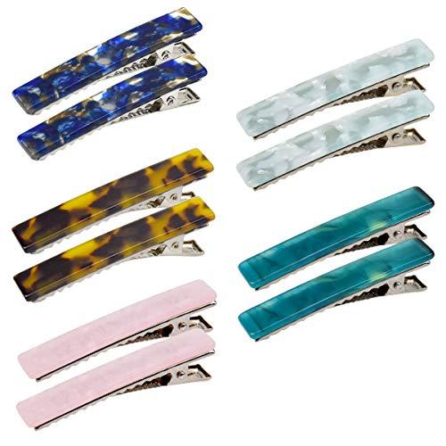 10 Stück Acrylharz Alligator Haarspangen, Essigsäure Marmor Geometrische Haarspange Leopardenmuster Haarnadeln, Entenschnabel Haarclips für Frauen Damen Mädchen Haarschmuck