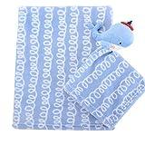 LCDY Baby Flaum Decke Cartoon Einfarbig Dickes Design 90 X 75 cm,3,90 * 75Cm