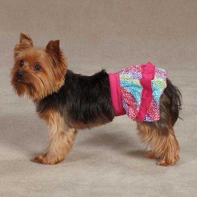 East Side Collection ZM35550881Konfetti Ruffle Skirt für Hunde, XX-small, Raspberry -