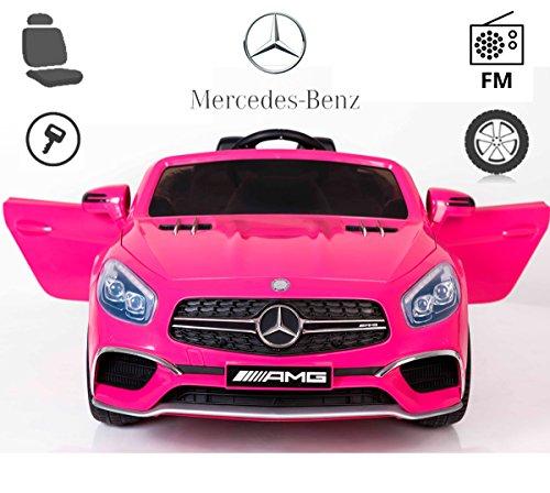 Mercedes Benz SL65 de Babycoches, con licencia oficial, 12 Voltios, asiento polipiel regulable, ruedas caucho, pantalla digital, radio FM, asa...