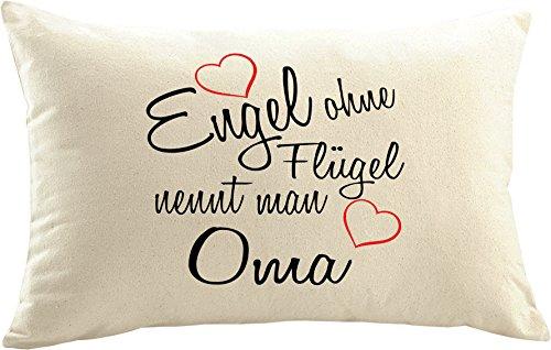 Mister Merchandise Kissenbezug Kissen Hülle Engel Ohne Flügel Nennt Man Oma, Dekokissen Sofakissen, Größe: 50x30 cm