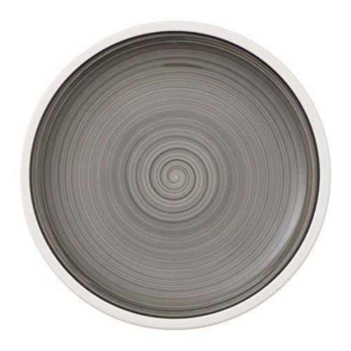 Villeroy & Boch Manufacture Gris Brotteller, 16 cm, Premium Porzellan, Grau