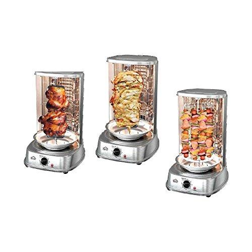 Forno verticale dcg 1022 griglia grill verticale per cottura di kebab spiedini pollo - certificazione a13