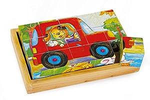 Legler - Puzzle de Cubos con diseño diversión Animal, de Madera (3479.0)