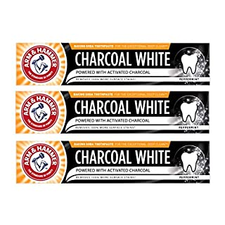 Arm & Hammer Charcoal White Peppermint Toothpaste 75ml - 3 Multipack